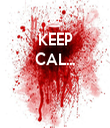 KEEP CAL...    - Personalised Tea Towel: Premium