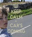 KEEP CALM A CAR'S COMING - Personalised Tea Towel: Premium