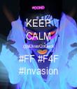 KEEP CALM @aDivasOnDeck #FF #F4F #Invasion - Personalised Tea Towel: Premium