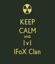 KEEP CALM AND 1v1 lFoX Clan - Personalised Tea Towel: Premium