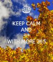 KEEP CALM AND  2015 WITH MORE 365  - Personalised Tea Towel: Premium