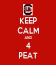 KEEP CALM AND 4 PEAT - Personalised Tea Towel: Premium