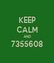 KEEP CALM AND 7355608  - Personalised Tea Towel: Premium