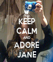 KEEP CALM AND ADORE JANE - Personalised Tea Towel: Premium