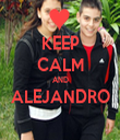 KEEP CALM AND ALEJANDRO  - Personalised Tea Towel: Premium