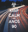 KEEP CALM AND ANOS 90 - Personalised Tea Towel: Premium