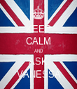 KEEP CALM AND ASK VANESSA - Personalised Tea Towel: Premium