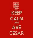KEEP CALM AND AVE CESAR - Personalised Tea Towel: Premium