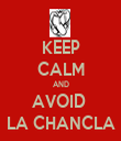KEEP CALM AND AVOID  LA CHANCLA - Personalised Tea Towel: Premium