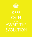 KEEP CALM AND AWAIT THE EVOLUTION - Personalised Tea Towel: Premium