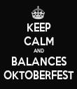 KEEP CALM AND BALANCES OKTOBERFEST - Personalised Tea Towel: Premium