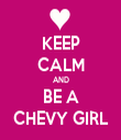 KEEP CALM AND BE A CHEVY GIRL - Personalised Tea Towel: Premium