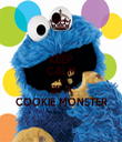KEEP CALM AND BE A COOKIE MONSTER - Personalised Tea Towel: Premium