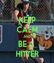 KEEP CALM AND BE A  HITTER - Personalised Tea Towel: Premium