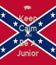 Keep Calm And Be A Junior - Personalised Tea Towel: Premium