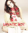 KEEP CALM AND BE A  LOVATIC BOY - Personalised Tea Towel: Premium