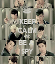 KEEP CALM AND BE A  SPY - Personalised Tea Towel: Premium