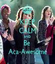 KEEP CALM AND Be  Aca-Awesome - Personalised Tea Towel: Premium