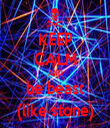 KEEP CALM AND be beast (like stone) - Personalised Tea Towel: Premium