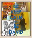 KEEP CALM AND BE DAVID - Personalised Tea Towel: Premium