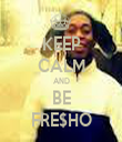 KEEP CALM AND BE FRE$HO - Personalised Tea Towel: Premium