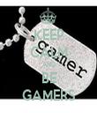 KEEP CALM AND BE GAMERS - Personalised Tea Towel: Premium