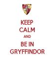 KEEP CALM AND BE IN GRYFFINDOR - Personalised Tea Towel: Premium