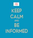 KEEP CALM AND BE INFORMED - Personalised Tea Towel: Premium