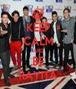 KEEP CALM AND BE RAYITA - Personalised Tea Towel: Premium