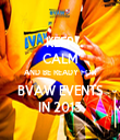 KEEP CALM AND BE READY FOR BVAW EVENTS IN 2015 - Personalised Tea Towel: Premium