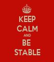 KEEP CALM AND BE  STABLE - Personalised Tea Towel: Premium