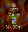 KEEP CALM AND BE STUDENT - Personalised Tea Towel: Premium