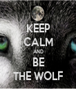 KEEP CALM AND BE THE WOLF - Personalised Tea Towel: Premium