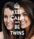 KEEP CALM AND BE TWINS - Personalised Tea Towel: Premium
