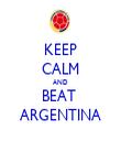 KEEP CALM AND BEAT  ARGENTINA - Personalised Tea Towel: Premium