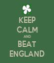 KEEP CALM AND BEAT ENGLAND - Personalised Tea Towel: Premium