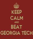 KEEP CALM AND BEAT GEORGIA TECH - Personalised Tea Towel: Premium