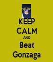 KEEP CALM AND Beat Gonzaga - Personalised Tea Towel: Premium