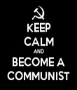 KEEP CALM AND BECOME A COMMUNIST - Personalised Tea Towel: Premium
