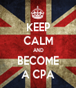 KEEP CALM AND BECOME A CPA - Personalised Tea Towel: Premium