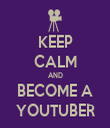 KEEP CALM AND BECOME A YOUTUBER - Personalised Tea Towel: Premium