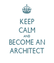 KEEP CALM AND BECOME AN ARCHITECT - Personalised Tea Towel: Premium