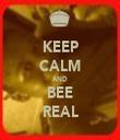 KEEP CALM AND BEE REAL - Personalised Tea Towel: Premium