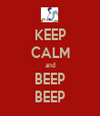 KEEP CALM and BEEP BEEP - Personalised Tea Towel: Premium