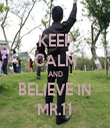 KEEP CALM AND BELIEVE IN MR.11 - Personalised Tea Towel: Premium