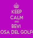 KEEP CALM AND BEVI  ROSA DEL GOLFO - Personalised Tea Towel: Premium