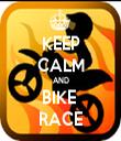 KEEP CALM AND BIKE  RACE - Personalised Tea Towel: Premium