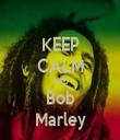 KEEP CALM AND Bob Marley - Personalised Tea Towel: Premium