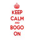 KEEP CALM AND BOGO ON - Personalised Tea Towel: Premium