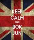 KEEP CALM AND BOK JUN - Personalised Tea Towel: Premium